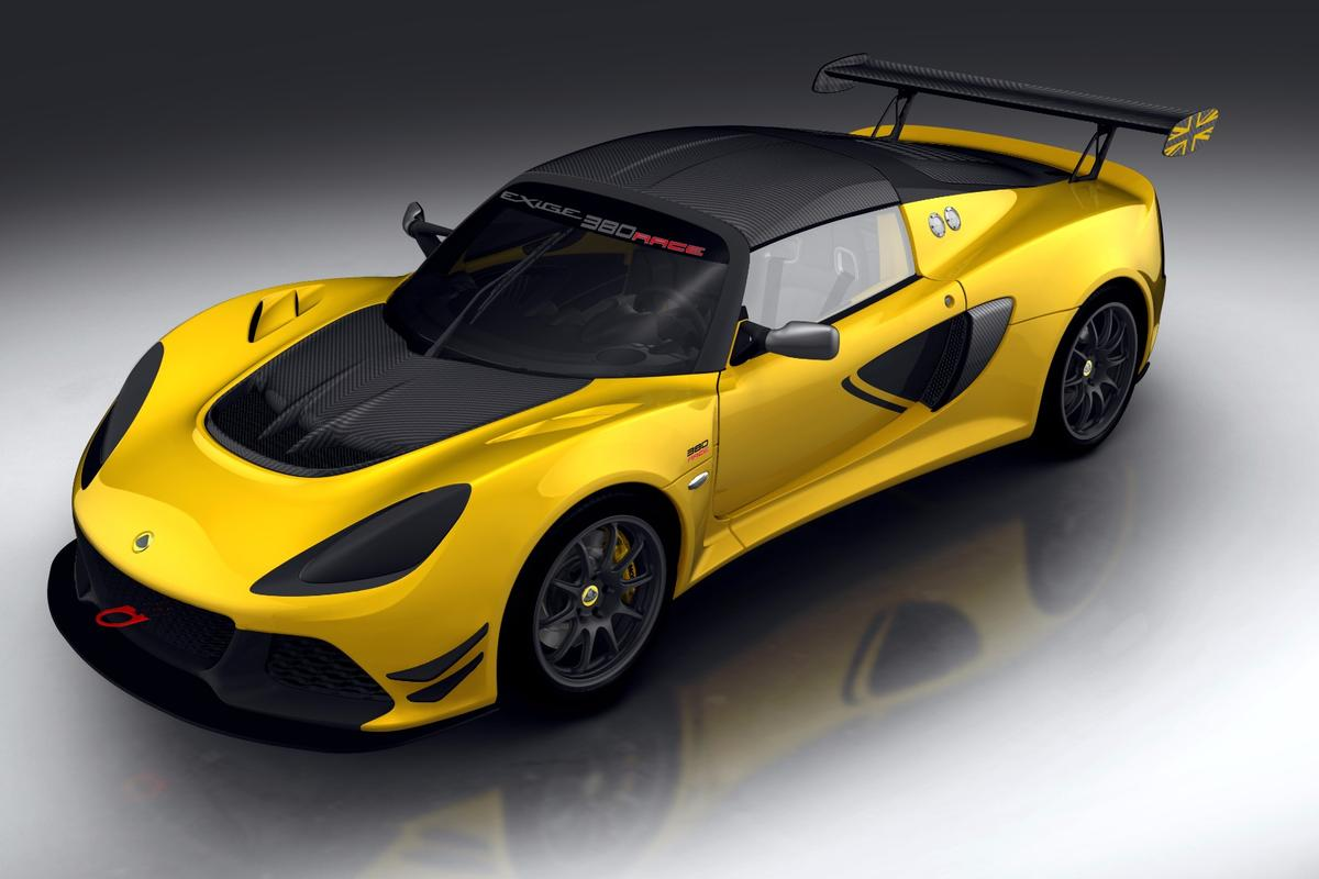 Lotus reports the 0-60 mph (0-96 km/h) speed of the Exige Race 380 to be just 3.2 seconds, about three tenths faster than the Sport 380 model