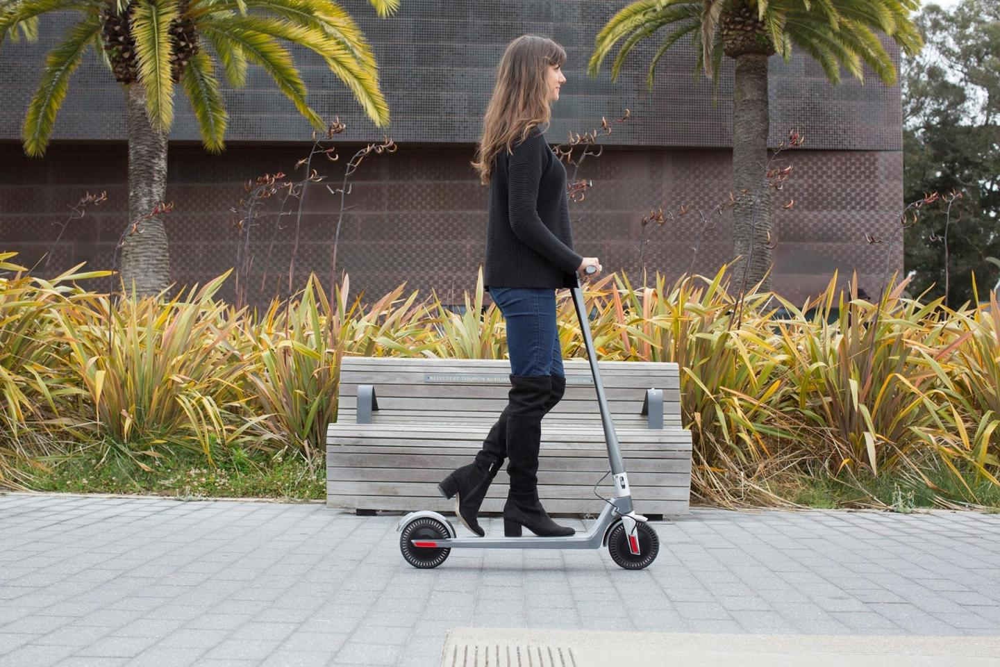The Unagi Scooter comes with either a 250 W front wheel motor or a dual motor setup with 200 W at the front and 250 W to the rear