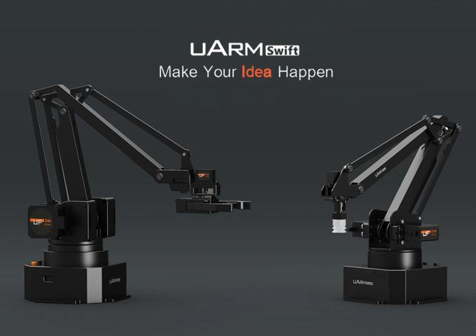 The uArm Swift will come in two models, the basic and the uArm Swift Pro, with the latter adding finer control and more tools