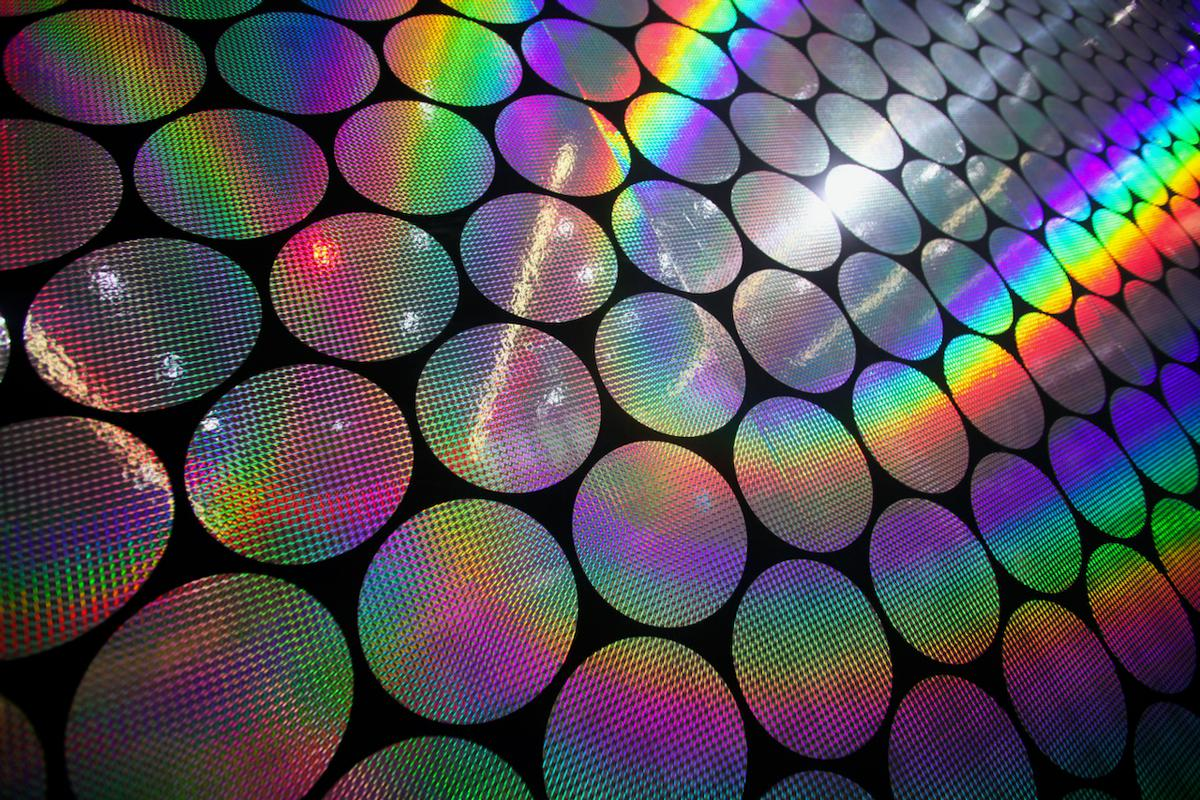 Like other types of holograms (pictured), the experimental edible ones present different color patterns when viewed from different angles