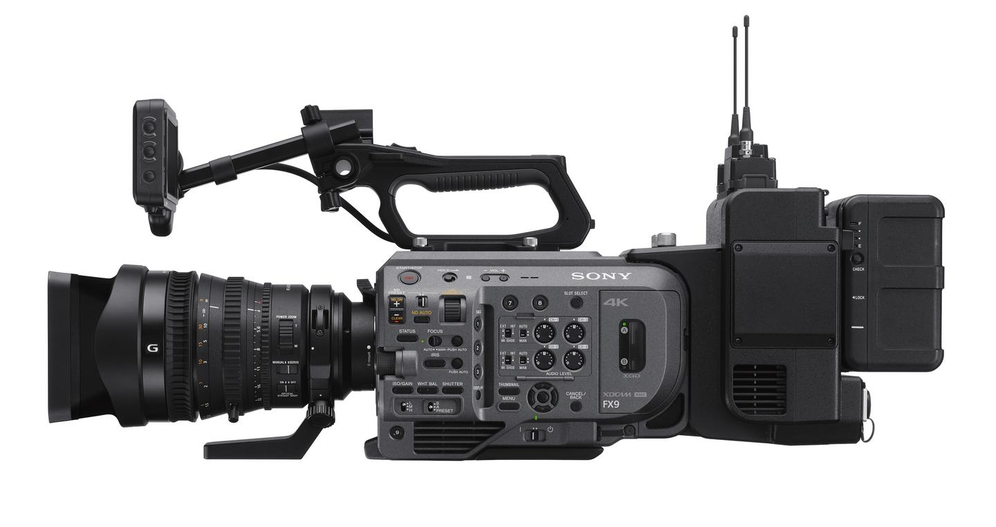 The PXW-FX9 features hybrid phase-detection and contrast autofocus, and is used with E-mount lenses