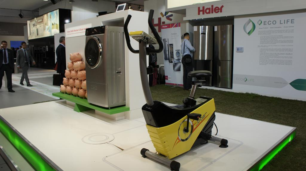 Haier's bike-powered washing machine