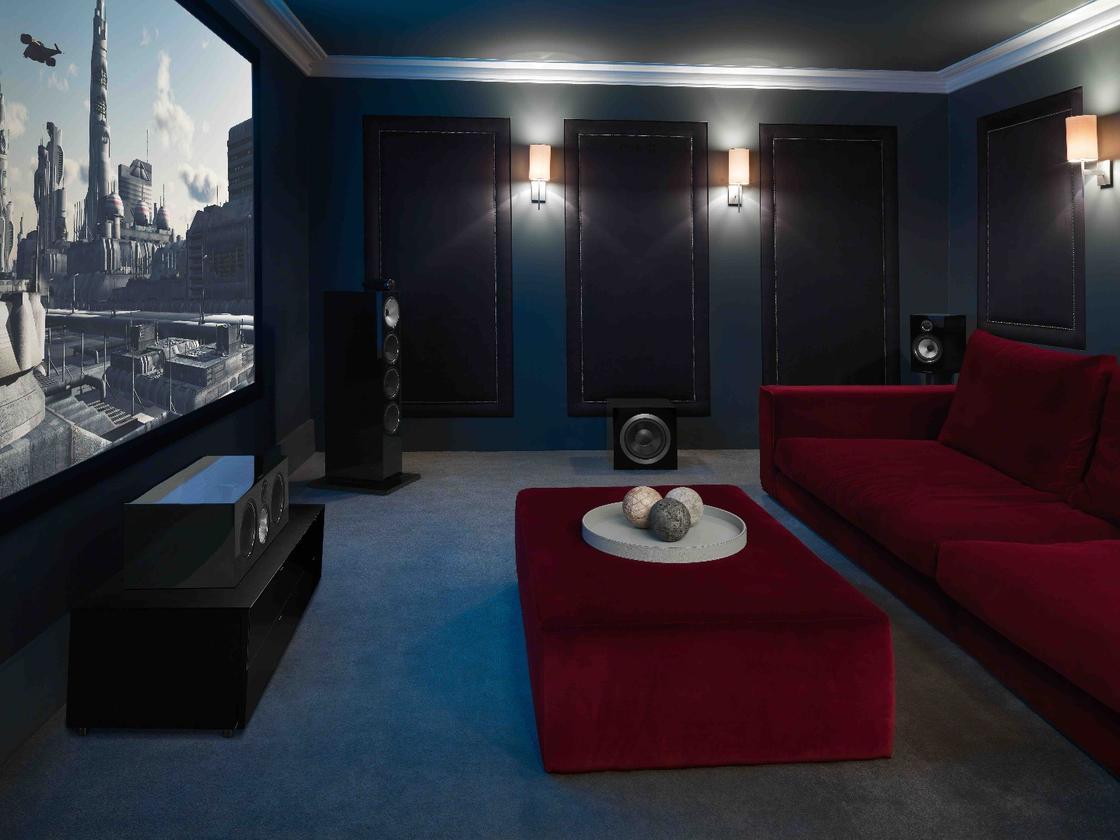 Bowers &Wilkins 700 Series speakers used in a home cinema setup