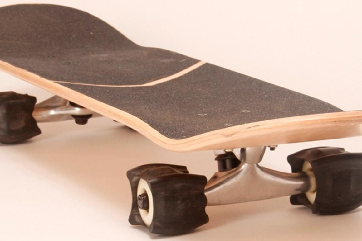SkaterTrainer is designed to let skateboarders practice tricks without the board rolling away