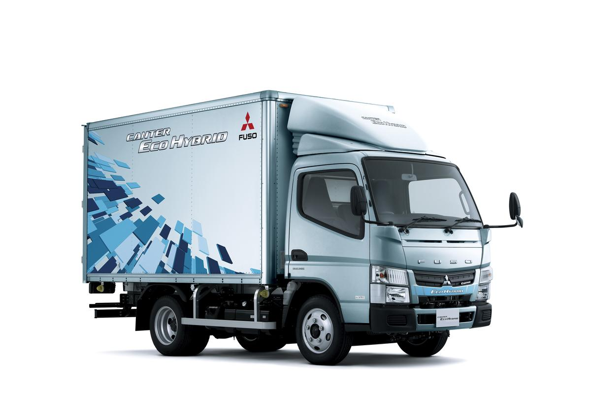 Fuso's second-generation Canter Hybrid gets 25% better fuel economy