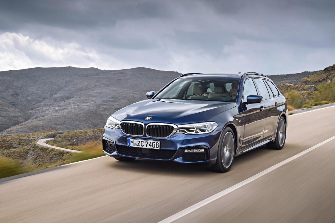 The new BMW 5 Series Touring will make its debut at the Geneva Motor Show
