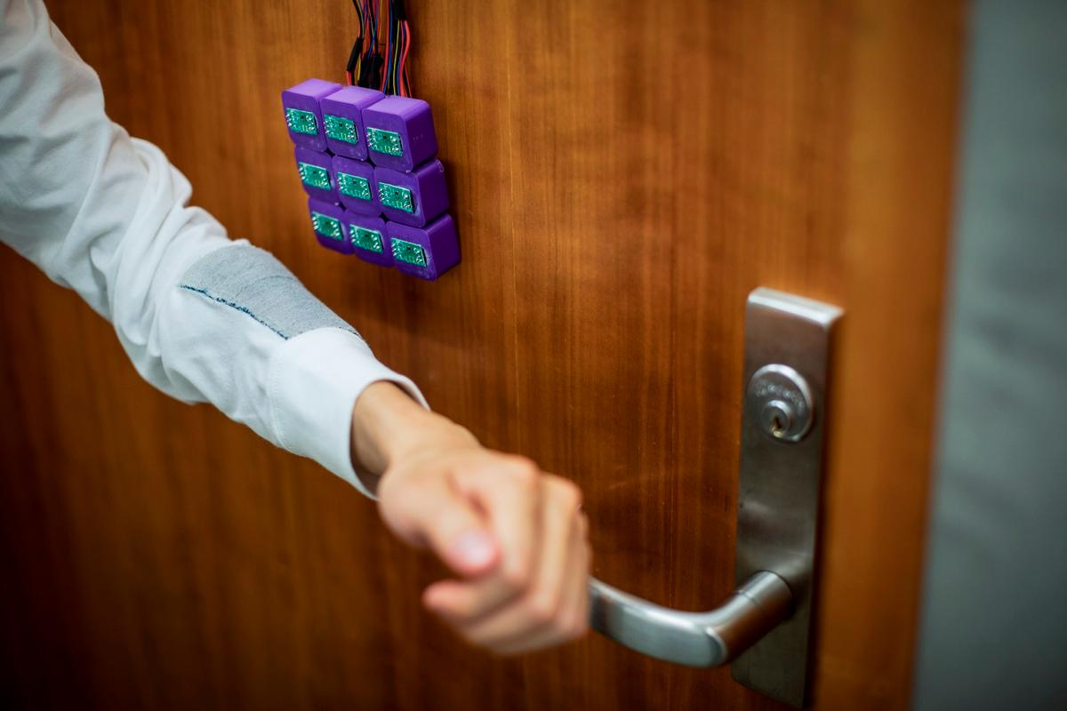 A new system developed at the University of Washington can store passcodes magnetically in clothes, allowing for doors or computers to be unlocked just by tapping your sleeve to a sensor