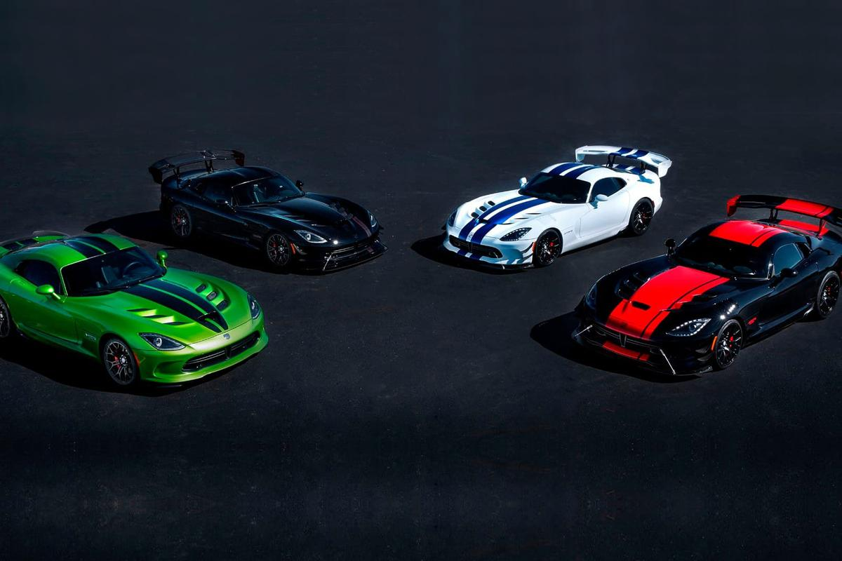 Four of the five special edition Vipers that will be produced in 2017