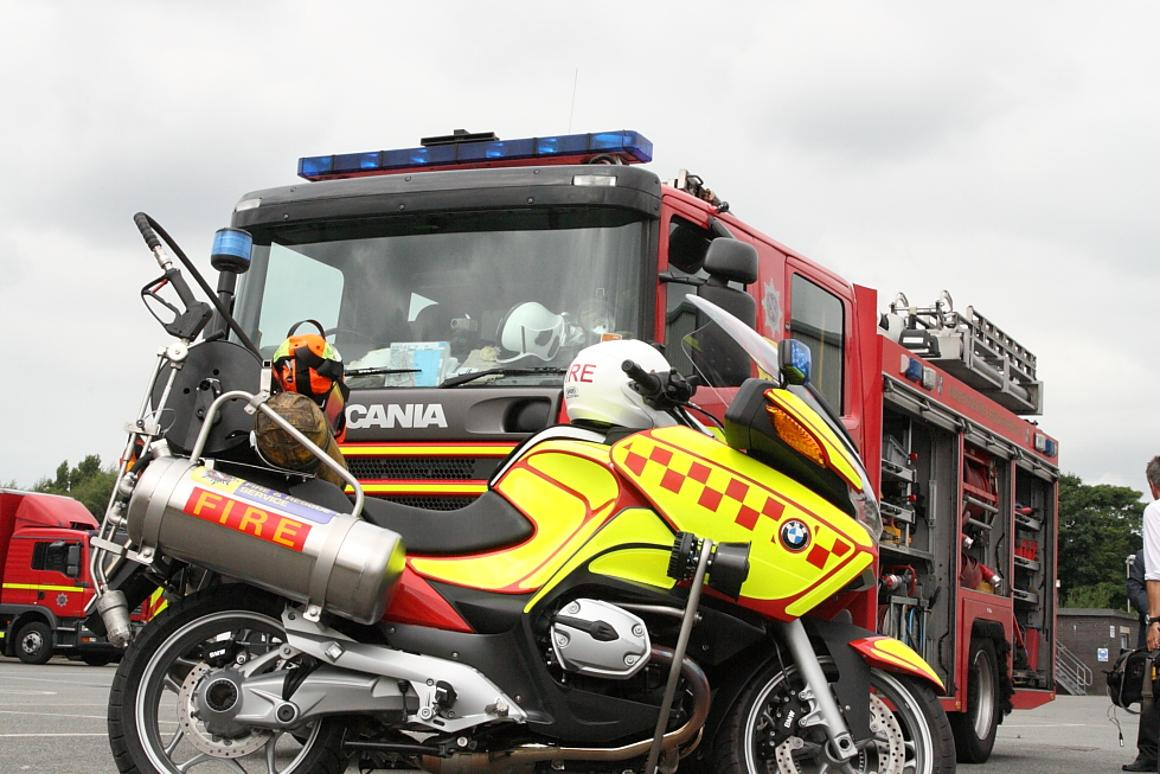 Merseyside Fire & Rescue Service is getting ready to trial a couple of firefighting motorcycle response units from August (all photos by Tony Thomas)