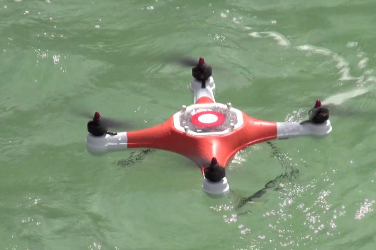 The Splash Drone can land on the water, to shoot beneath the surface