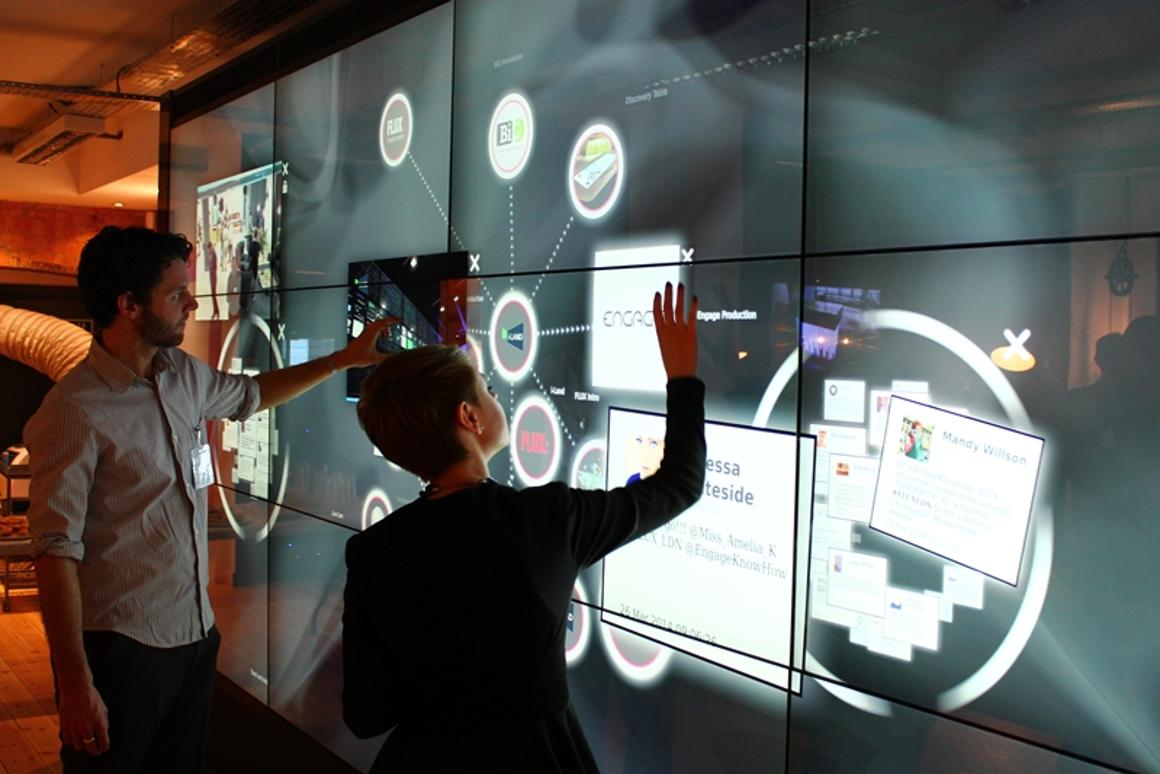 The MultiTaction iWall offers unlimited multi-touch interactivity, and is just one of the technologies on display