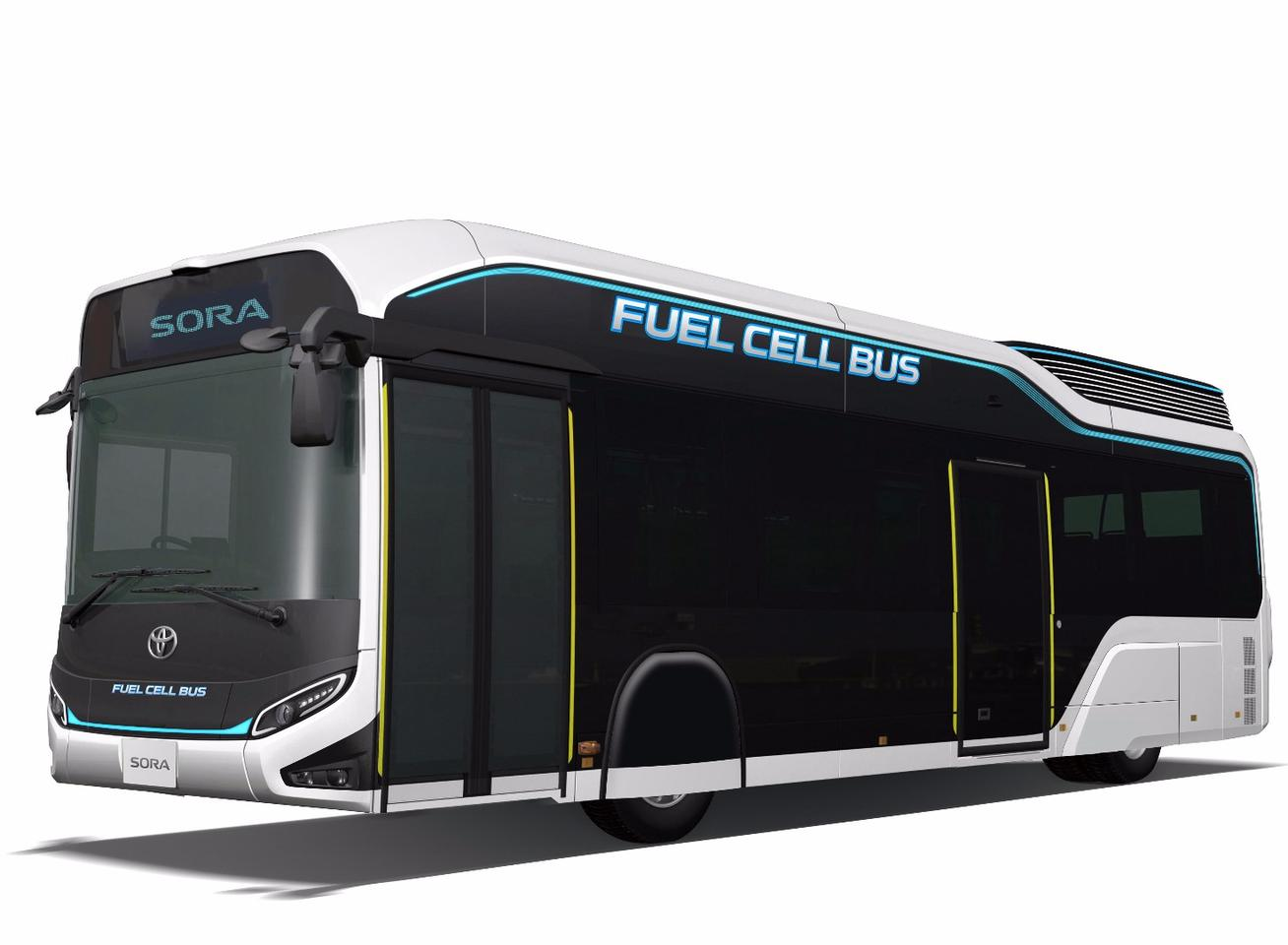 In addition to its powertrain for people-moving, the Sora fuel cell bus is also capable of outputting power during emergencies or disasters