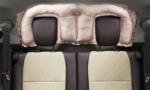 Toyota rear-window curtain shield airbag