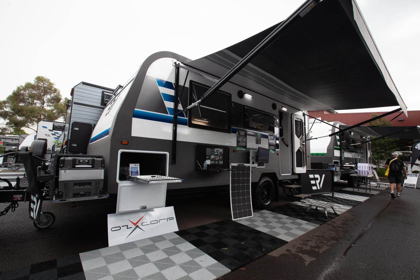 A joint project between Retreat Caravans and OzXcorp, the ERV is billed as the world's first all-electric caravan, eliminating the need for LPG and other fuels