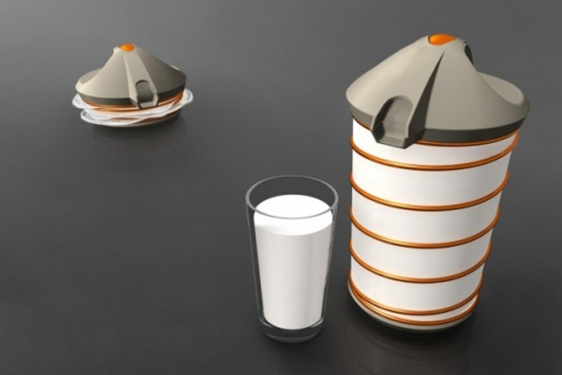 The Fresh shrinking milk jug