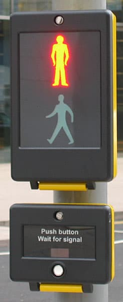 Pedestrian SCOOT uses an interface similar to a pelican crossins's shown here (Image: Secretlondon/Wikipedia)