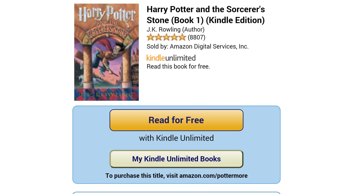 Though the selection only goes so far, it does include classics like the Harry Potter series
