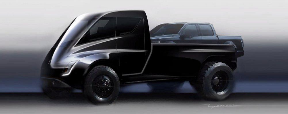 The Tesla Pickup Truck is pitched as a smaller version of the Semi, but still large enough to haul a standard pickup in its bed