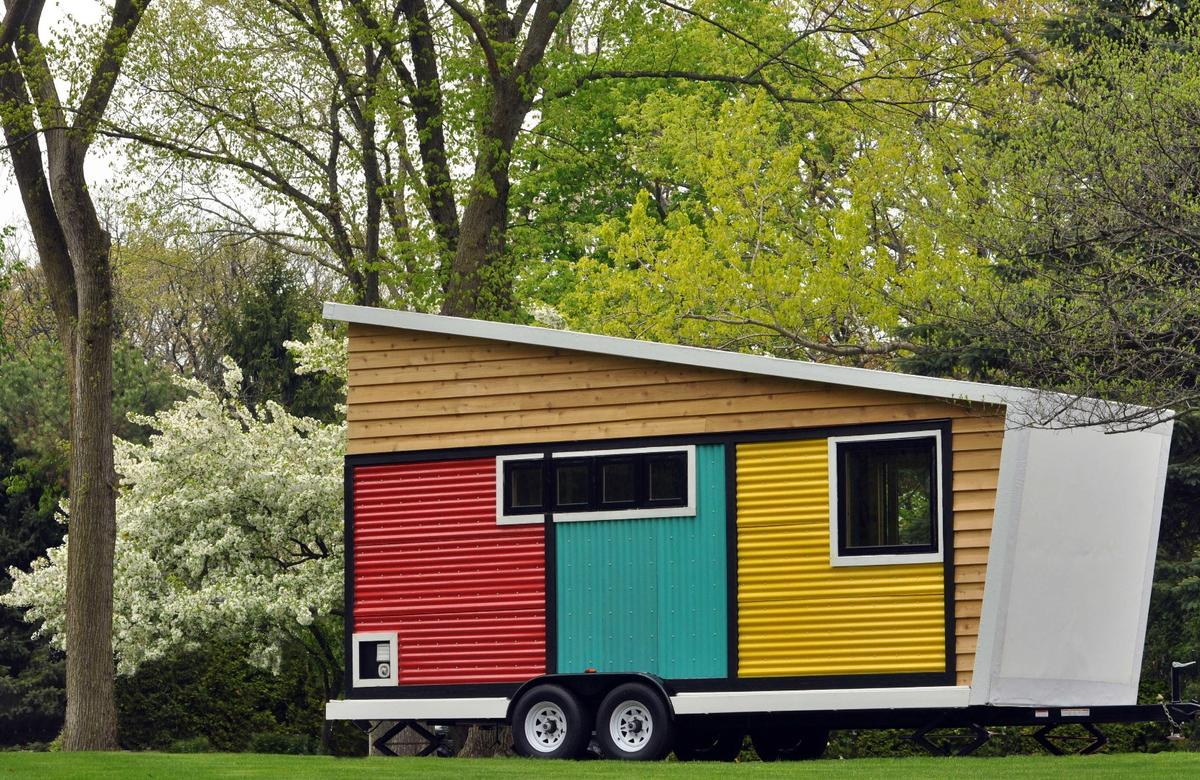 The Toybox Tiny Home is currently located in Lake Forest, Illinois