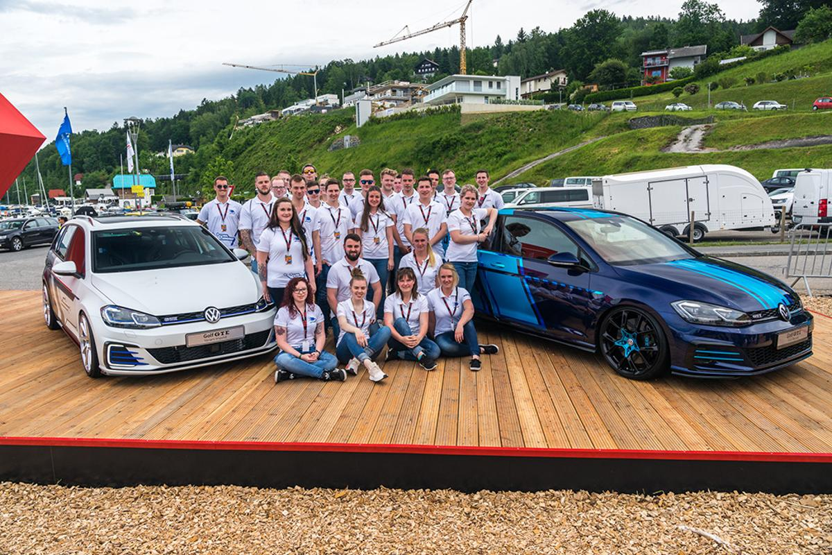 Volkswagen first revealed its two apprentice Golfs at its Worthersee GTI gathering on Wednesday
