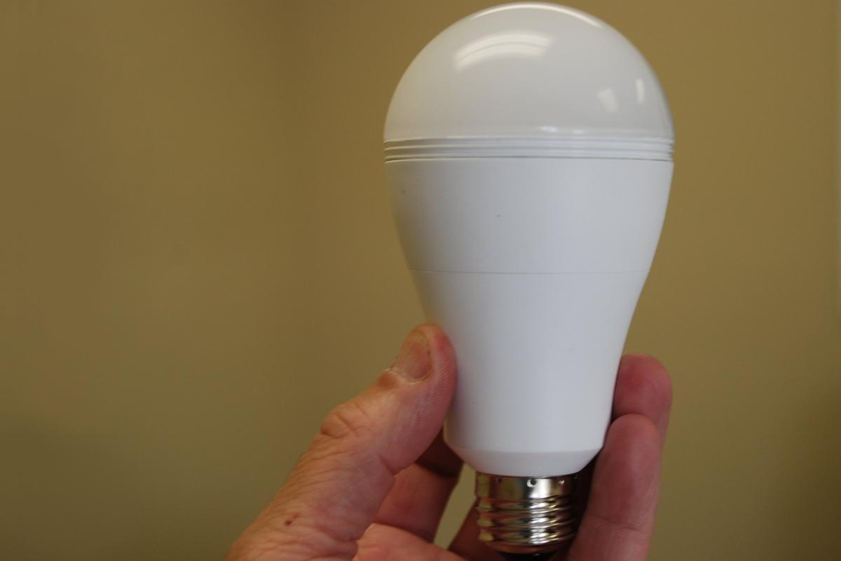 The SmartCharge LED lightbulb
