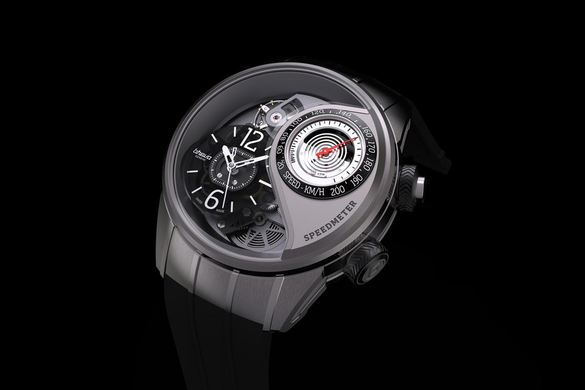 The Breva Génie 03 has a mechanical speedometer