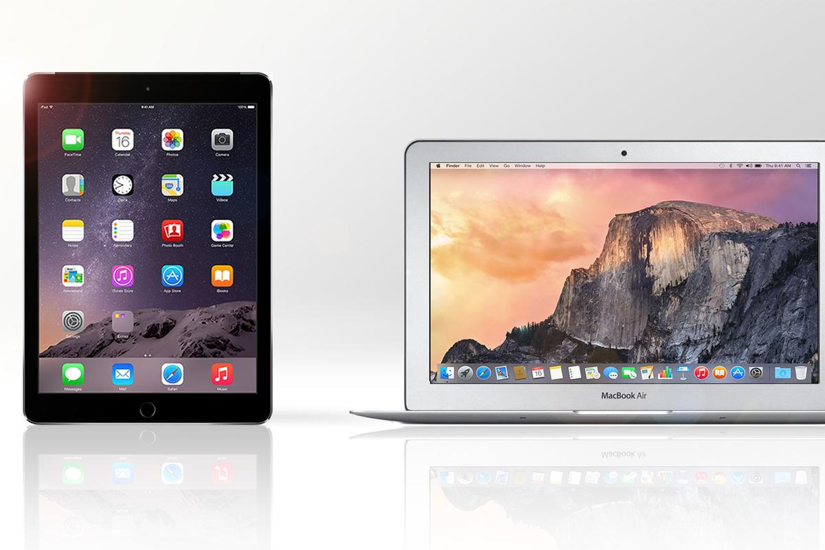 Gizmag compares the features and specs of the iPad Air 2 and 11-in MacBook Air