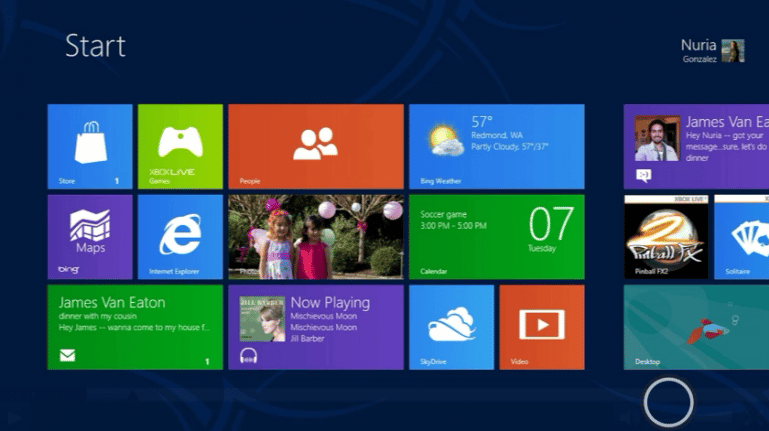 Windows 8 will give users access to video content through Apps, rather than discs