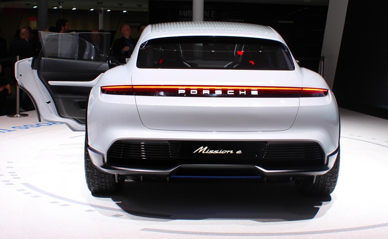 Porsche's Mission E Cross Turismo design includes rear lighting familiar from the original Mission E sedan