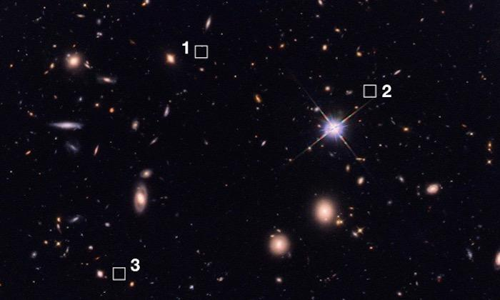 Astronomers have discovered 39 ancient, massive galaxies so faint that they can't be seen by telescopes like Hubble