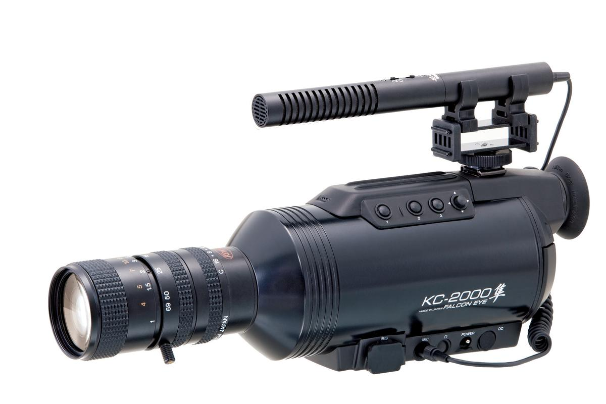 The Falcon Eye KC-2000 handheld camcorder from Tokyo's Komamura Corporation