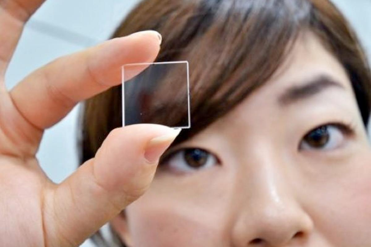 Hitachi's prototype quartz glass memory device (Photo: AFP/Yoshikazu TSUNO)