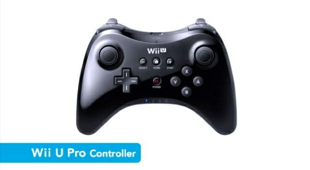 The Wii U Pro controller features a layout similar to the Xbox 360