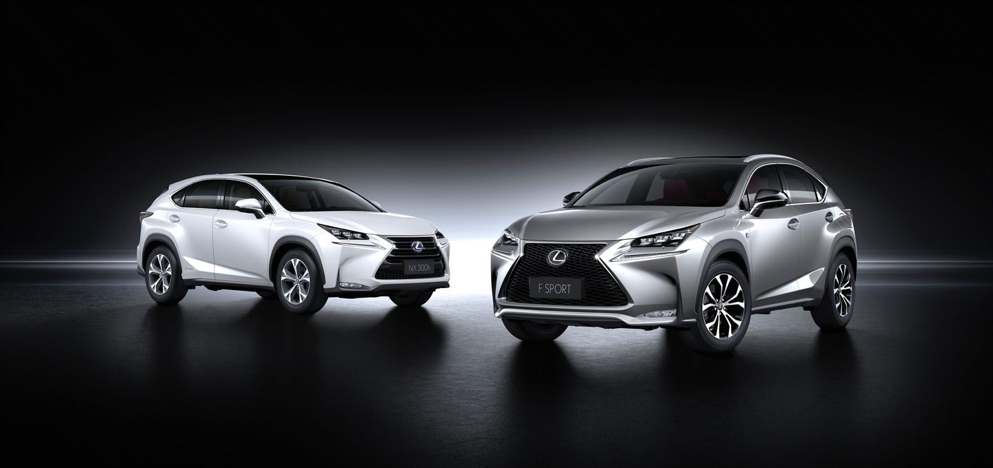 The Lexus NX 300h and 200t F Sport