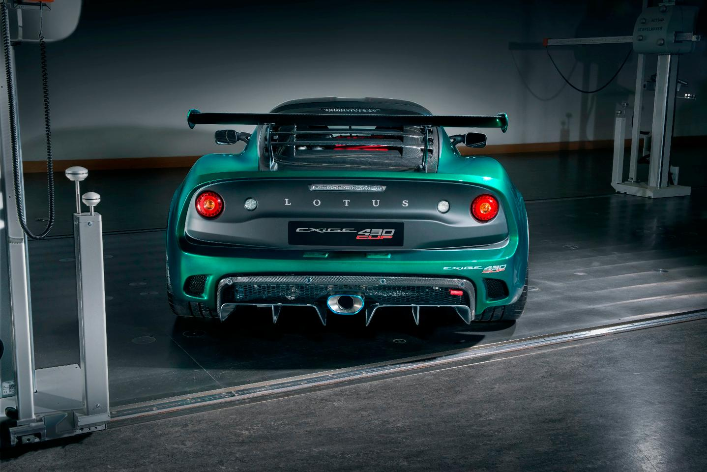 The Exige Cup's cornering capabilities, which are enhanced by careful management of airflow over and under the car