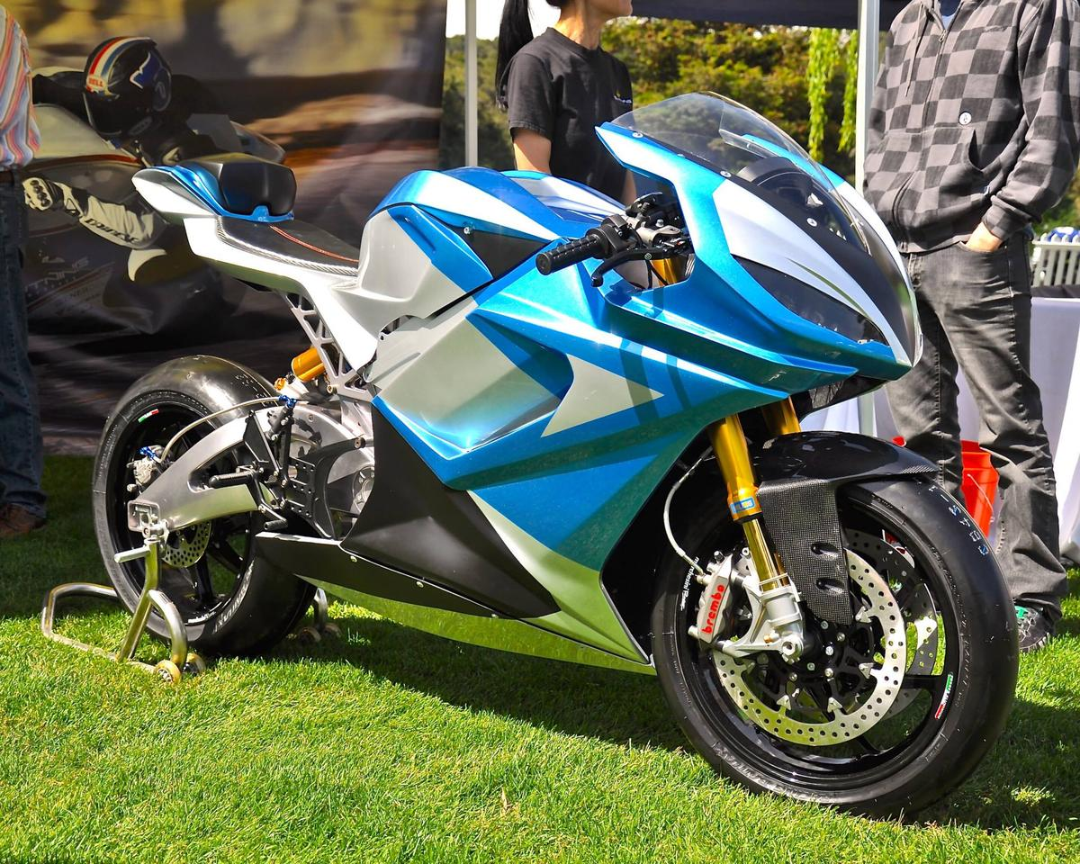 The Lightning LS-218, seen here at The Quail Motorcycle Gathering in 2014