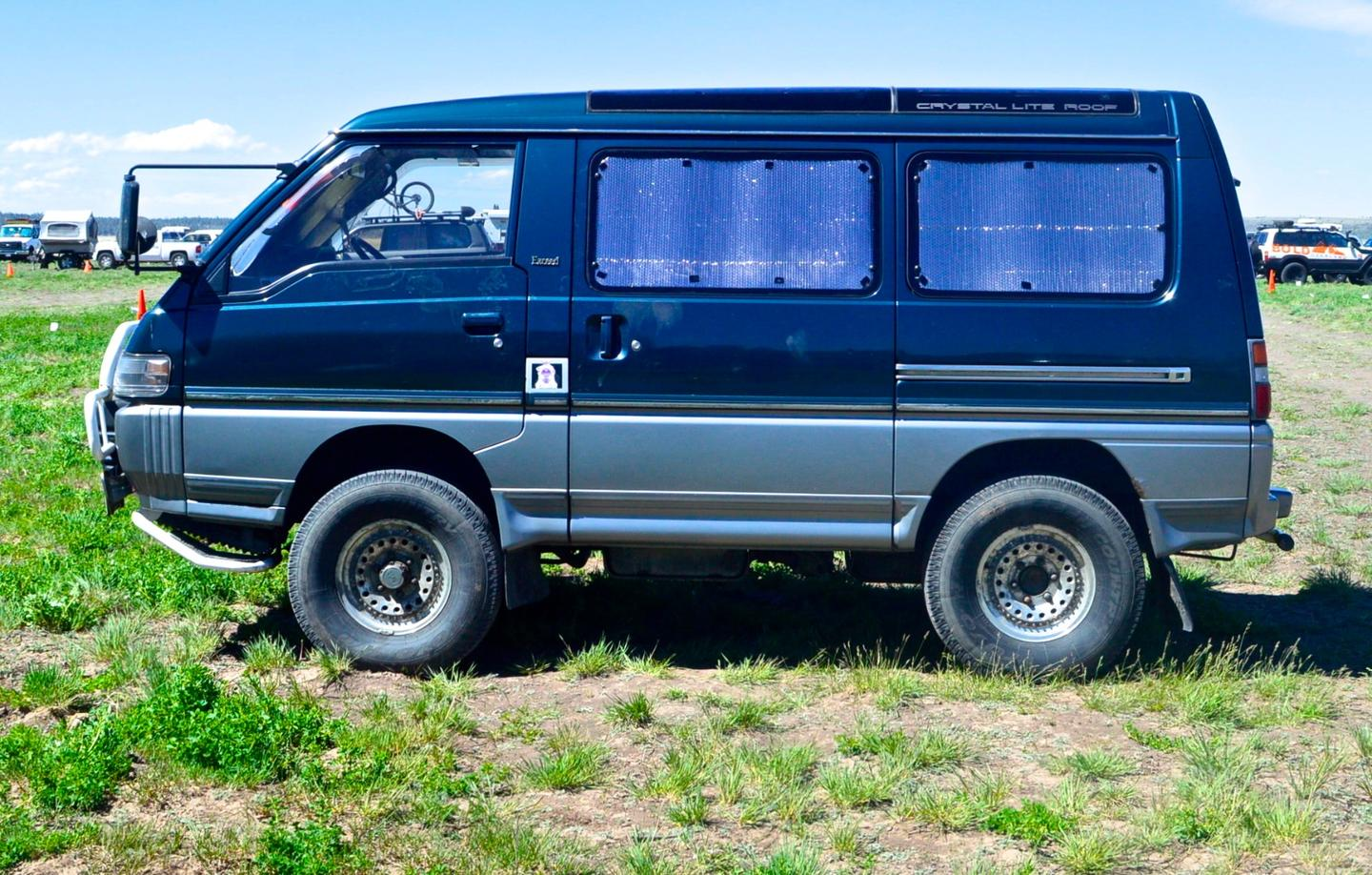This Mitsubishi Delica was one of the first vehicles to greet us at OXW 2016 and also one of our favorites of the whole show