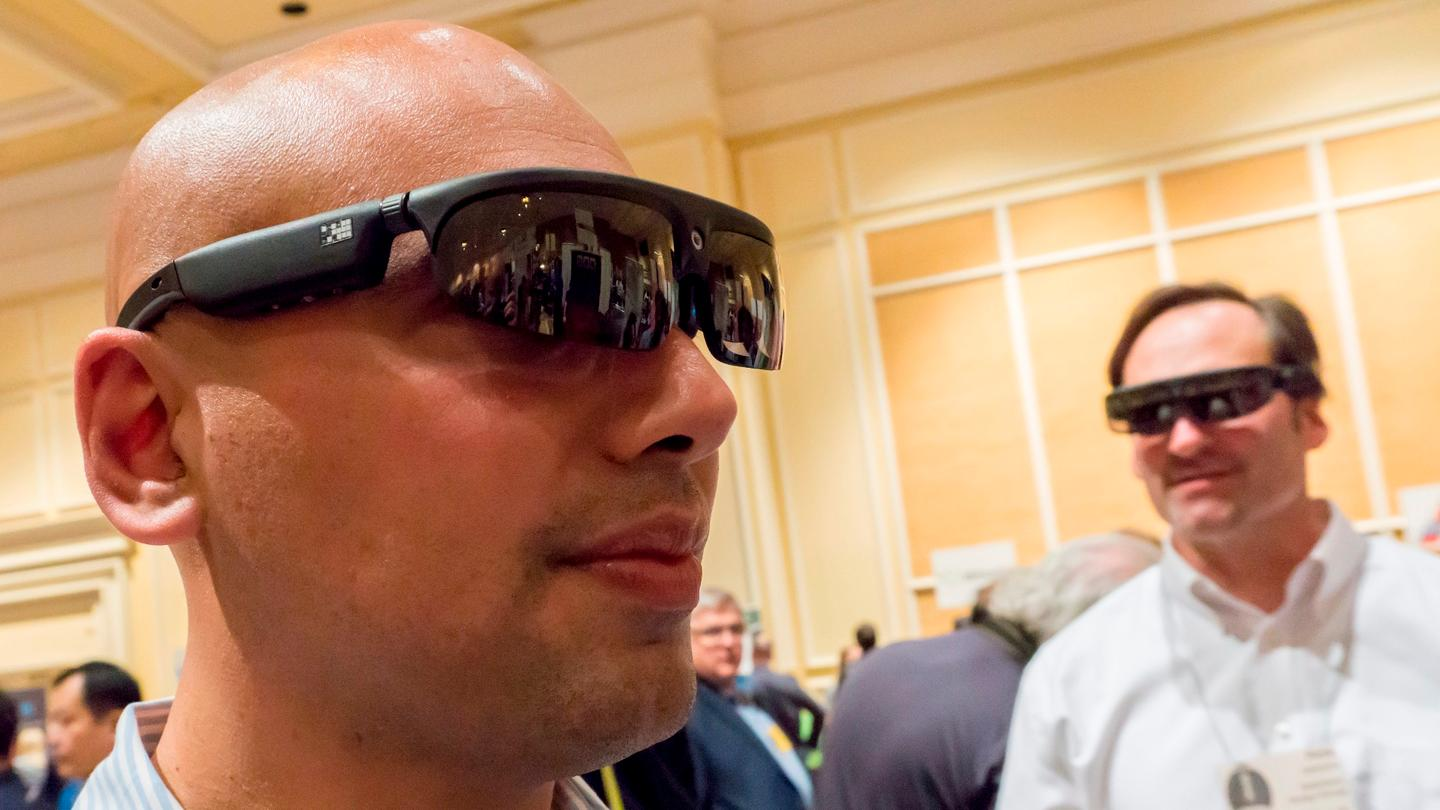 ODG VP Nima Shams modeling the company's new smartglasses