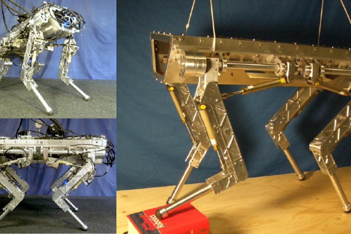 HyQ the Hydraulically actuated Quadruped robot (Photo: IIT)