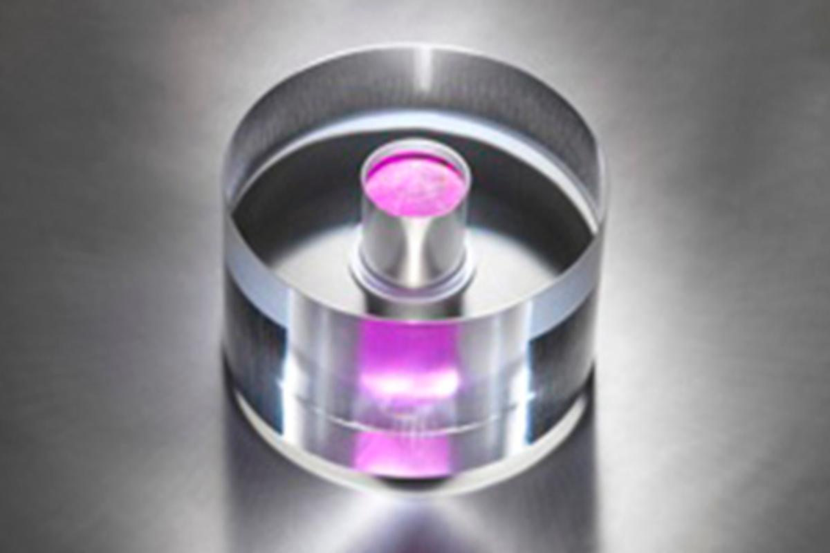 The core of the new solid state maser (Photo: National Physics Laboratory)