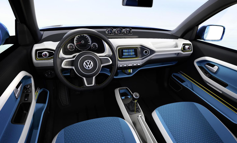 The Volkswagen Taigun compact SUV concept's inetrior