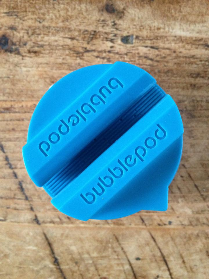 A silicone grip on the top of the BubblePod flexes to hold thin or chunky phones equally securely