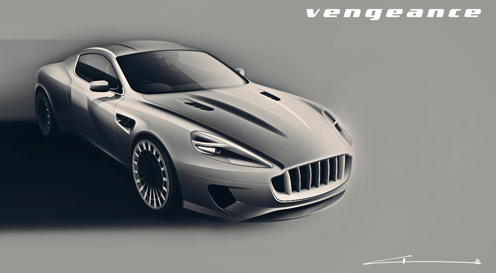 Aston Martin Vengeance sketch