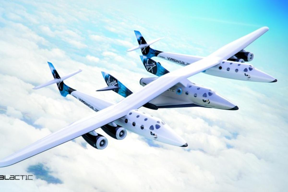 Artist's concept of SpaceShipTwo separating from WhiteKnightTwo