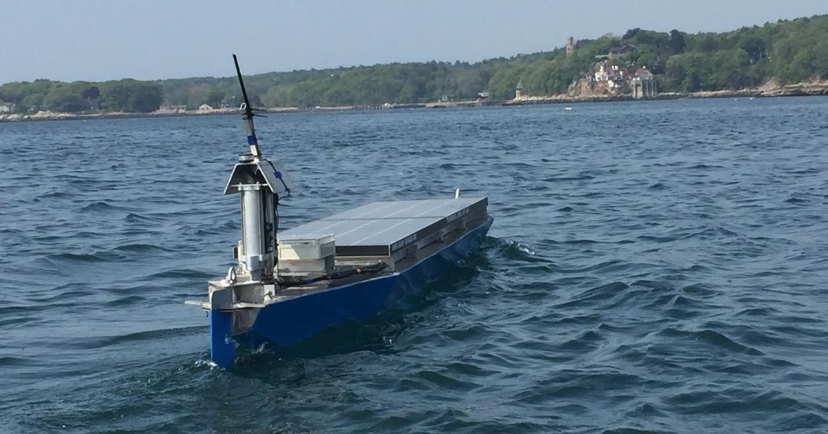 A solar-powered, autonomous boat is currently crossing the Atlantic