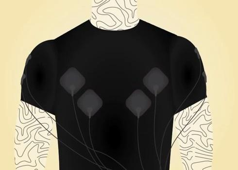 Squid uses EMG sensors to keep track of the electrical activity of muscles during a workout