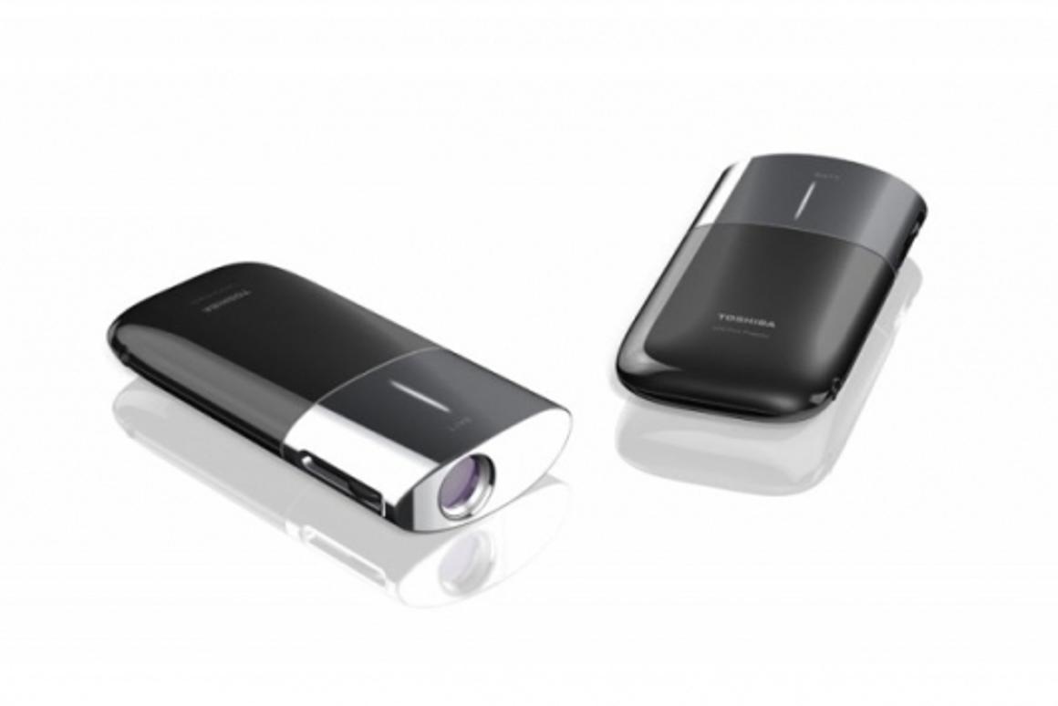Toshiba's 100-gram LED mini-projector