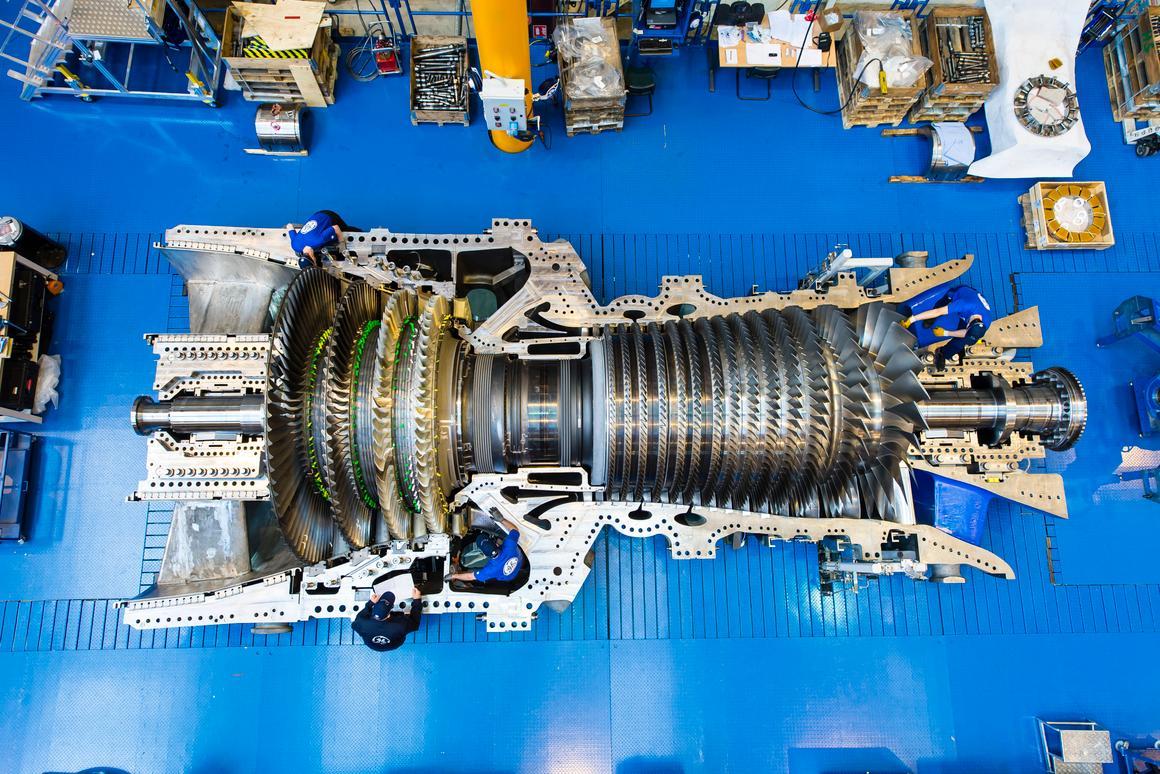 Inside the 9HA Harriet gas turbine