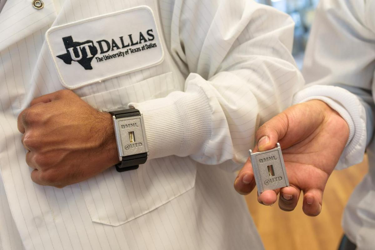 A prototype of the wrist-worn sensor