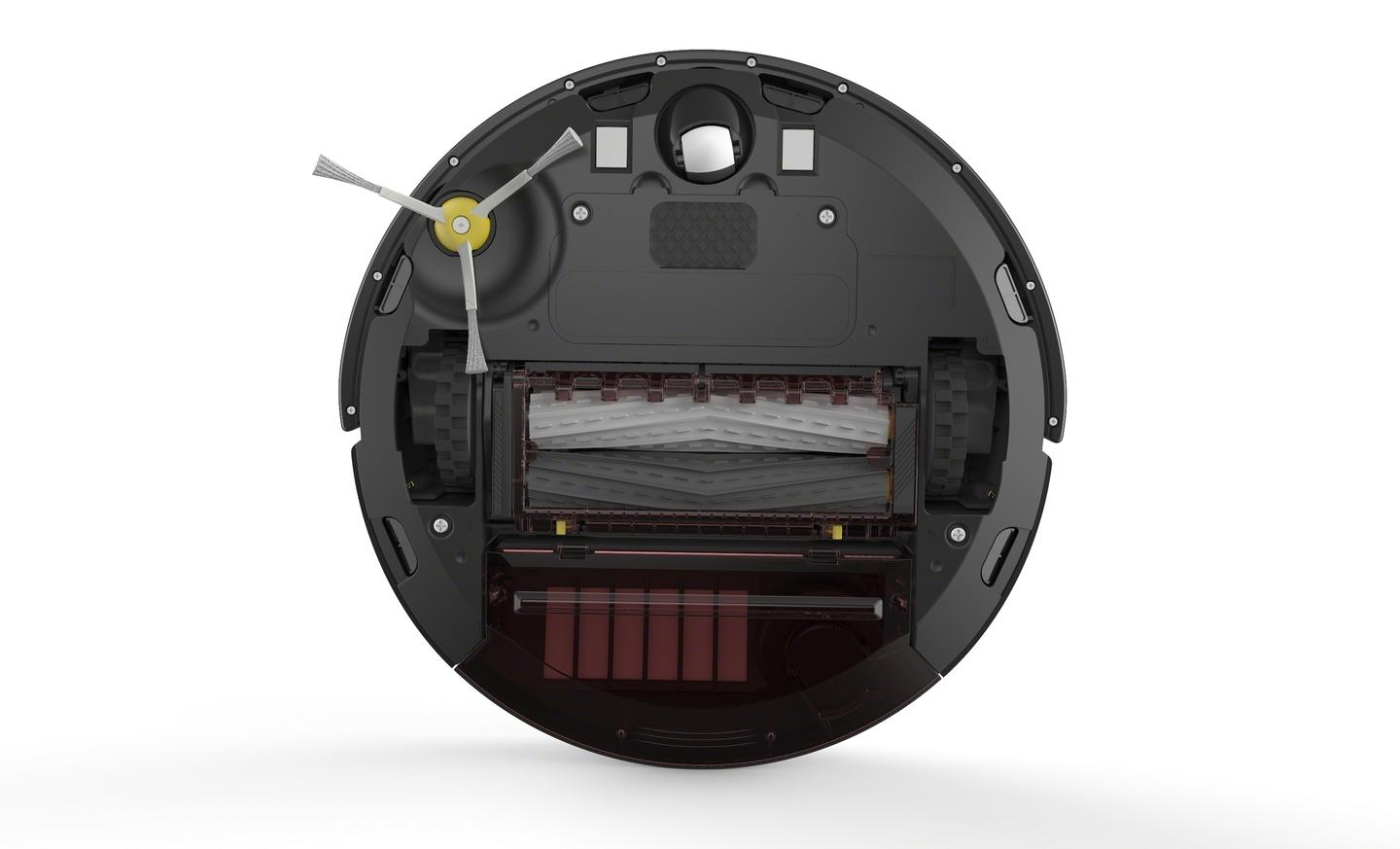 The underside of the Roomba 800 Series